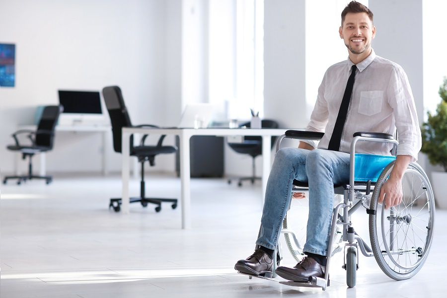Person in Wheelchair in Office